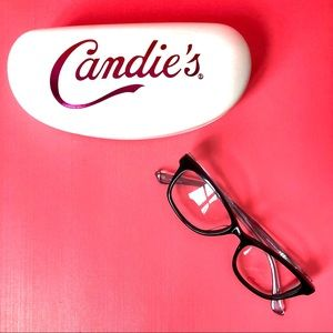 Candie's Eyeglasses 0176 Shiny Black Grey clear
